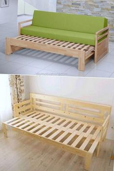 DIY- Ideas To Make Sofas From Wooden Pallet – DIY Pallet Projects – - Diy furniture design Diy Sofa, Diy Furniture Couch, Diy Pallet Furniture, Diy Bed, Furniture Projects, Furniture Design, Window Furniture, Sofa Bed Wood, Outdoor Furniture