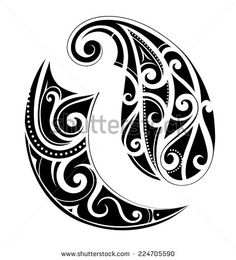 Maori ethnic tattoo set - stock vector
