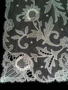 Rosemary Cathcart Antique Lace and Vintage Fashion: Antique Carrickmacross Lace Stoles For Sale