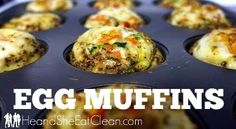 Who does not love a good muffin for breakfast? Try one of these healthy versions! #heandsheeatclean #eatclean #muffin #breakfast