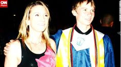 """Mitchell and her son pose for a photo at his high school graduation. """"I've been telling him most of these things all along, and I guess it was just one last chance to tell him 'remember this' or 'stay-the-course, kid,' """" she said."""