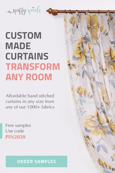 Buy custom curtains, roman shades, drapery and more at Spiffy Spools online. Create custom curtains in any length, size, and style with fabric options. Hanging Curtains, Drapes Curtains, Drapery, Window Coverings, Window Treatments, Beach Style Curtains, Custom Made Curtains, Ideas Hogar, Coastal Living Rooms