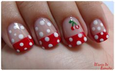 nails #dots #red Oh My! is this me or what! tee hee, next time! ;)