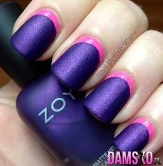 Purple and pink matte