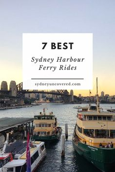 Our top 7 Sydney ferry trips, because the best way to experience the Harbour is by doing one of the many scenic ferry rides with Sydney Ferries. Harbor City, Harbor Bridge, Sydney Australia Travel, Australia Trip, Western Australia, Sydney Activities, Brisbane Queensland, Queensland Australia, Sydney Ferries