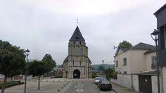Prise d'otages dans une église près de Rouen, à St Etienne-du -Rouvray, ce 26 juillet 2016. Assassinat au couteau (égorgé) du prêtre Jacques Hamel (86 ans) qui officiait. Un fidèle est dans un état critique. (Par Catherine Grenier)