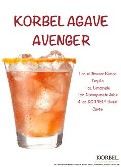 A twist on your typical brunch cocktail. Salt the rim of a rocks glass. Pour el Jimador blanco tequila, lemonade and pomegranate juice into a shaker with ice. Shake and strain into the glass over ice. Top with KORBEL for a fun summer cocktail.