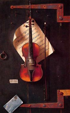 karamazove:  The Old Violin (1886) — William Michael Harnett