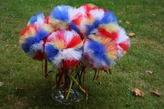 Snow White Puff Wands- Cute to make for Party Favors for the girls or decor