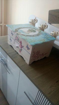 Ahşap boyama takı kutusu