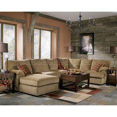 Bartlett - Caramel Sectional Living Room Set
