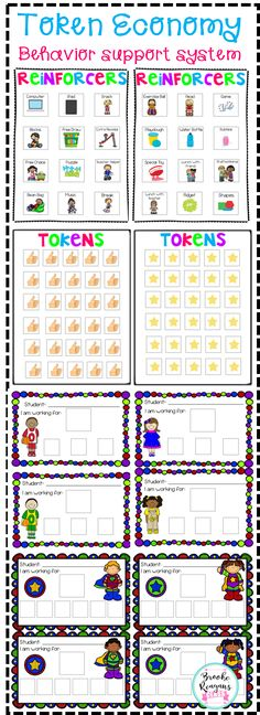 Token Economy is a great behavior support system to use in your classroom. Very helpful to use with your students that have autism.
