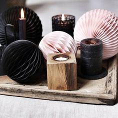 Add pink details in your decoration! Tea Lights, Candle Holders, Candles, Detail, Decoration, Interior, Christmas, Pink, Future