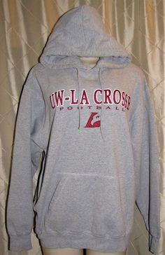 6d9e0fb48 Uw la crosse football university of wisconsin eagles hoodie sweatshirt  womens xl