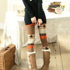 Patterned Knit Leggings sweater dress