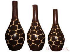 jarrones de barro decorativos - decoracion diseño artesanal - modernista
