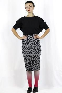 Spot Small - Pencil Skirt Stretch Ethical Clothing, Fashion Brand, Stretches, Pencil, Skirts, Clothes, Collection, Outfit, Traditional Clothes