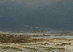'Northern Landscape, Spring', Oil by Caspar David Friedrich (1774-1840, Germany)