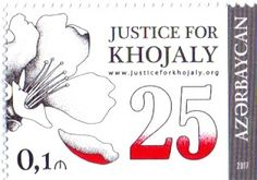 Postage Stamps of Azerbaijan Republic: Justice for Khojaly. Azerbaijan Republic New Posta...