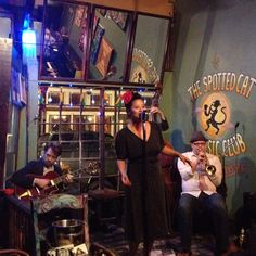 Frenchmen Street, New Orleans, Louisiana.  No cover, cheap drinks, live music, 3 blocks from bourbon street.