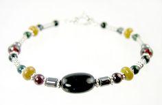 healing stone bracelet   BRAC34 - Chakra Balancing Gemstone Beaded Bracelet