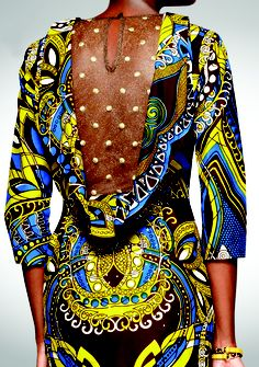 African Inspired backless dress -i would love to have this - divine!!