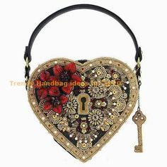 Mary frances handbags - Key To My Heart Embellished Heart Lock & Key Top Handle Bag – Mary frances handbags Popular Handbags, Trendy Handbags, Cheap Handbags, Luxury Handbags, Luxury Purses, Luxury Bags, Unique Handbags, Wholesale Handbags, Handmade Handbags