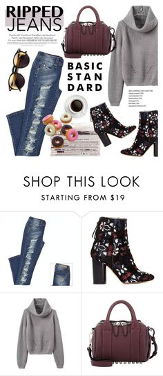 """""""Style This Trend: Ripped Jeans"""" by helenevlacho ❤ liked on Polyvore featuring Melissa, Isabel Marant, Alexander Wang, Wildfox, women's clothing, women's fashion, women, female, woman and misses"""