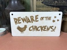 Beware Of The Chickens Sign Wooden Bird Hens Hanger Plaque Fab Funny Wood Gift Chicken Signs, Wooden Bird, Wood Gifts, Funny Signs, Hens, Wooden Signs, Hanger, Shapes, Ebay