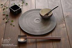 十草ドーナツプレート24cm/作家「奥田章」/和食器通販セレクトショップ「flatto」