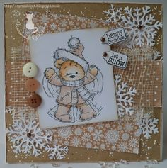 LOTV - James Snow Angel with Krafty Christmas Paper Pad and Christmas Sentiment Tags by Katrina Bufton