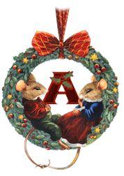 Alfabeto navideño de pareja de ratoncitos. | Oh my Alfabetos!