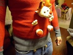 DIY  Ugly Christmas sweater--easy! by lesley @Thomas Marban Marban Clark I found your sweater for Christmas Eve :)