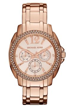 Perhaps the Anniversary Sale at Nordstrom is the perfect time to satisfy my craving for a rose gold watch... Michael Kors 'Cameron' Round Bracelet Watch | Nordstrom