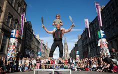 Fringe Festival madness on the Royal Mile Edinburgh International Festival, Festivals In August, Irish Celtic, Scotland, Culture, Street, City, Madness, Events