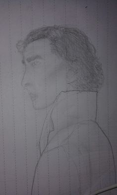 My first face drawing of #sherlock