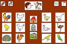 MATERIALES - Tableros de Comunicación de 12 casillas.    Tablero de comunicación de doce casillas sobre aves.    http://arasaac.org/materiales.php?id_material=224