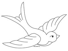A swallow coloring page, ready to be printed. The Drawbot also has many other coloring pages! Stained Glass Patterns, Mosaic Patterns, Bird Drawings, Easy Drawings, Vogel Quilt, Bird Template, Valentine Coloring Pages, Tattoo Lettering Fonts, Mosaic Birds