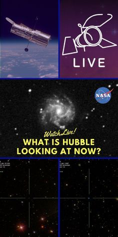 What Is Hubble Looking at Right Now? -- See real-time views from the Hubble Space Telescope. Live cam. Webcam. Views of space.