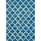 Transitional Turquoise 7 ft. x 10 ft. Area Rug
