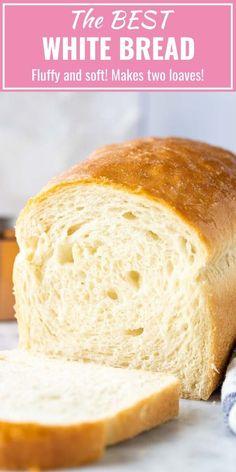 bread recipes homemade \ bread recipes + bread recipes homemade + bread recipes easy + bread recipes easy no yeast + bread recipes homemade easy + bread recipes no yeast + bread recipes without yeast + bread recipes artisan Easy White Bread Recipe, Homemade White Bread, Easy Bread Recipes, Baking Recipes, White Bread Recipes, Soft Sandwich Bread Recipe, Homemade Sandwich Bread, White Bread Recipe For Bread Machine, Bread Maker Recipes