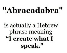Abracadabra. X