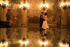 New York, New York City, Shira Weinberger Photography, Wedding, Wedding Photography, Bride and Groom, Bride and Groom Portraits, Creative Portraits, Love, Kiss, Wedding Dress, Wedding Ideas, First Looks, Reflections