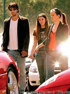 Keanu Reeves with brenda and isabelle