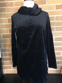 Goth Cosplay LARP Crushed Velvet Look Black long sleeve tunic steampunk