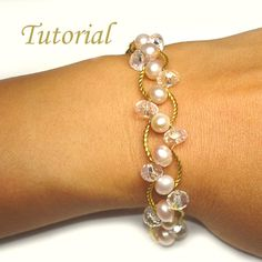 Beading Tutorial Beaded Pearl Bliss Bracelet por Splendere en Etsy