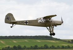 https://flic.kr/p/f2zux1 | Fieseler Fi 156 Storch | The Fieseler Fi 156 Storch (English: Stork) was a small German liaison aircraft built by Fieseler before and during World War II. Production continued in other countries into the 1950s for the private market. It remains famous to this day for its excellent STOL performance; French-built later variants often appear at air shows.