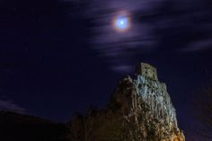 Beckov castle with the moon Moon Photos, National Geographic Photos, Your Shot, Landscape Photos, Amazing Photography, Northern Lights, Castle, Travel, Voyage