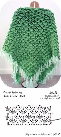 Shell Crochet Shawl.