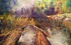 Landscape Pastel Painting. South ok Chile